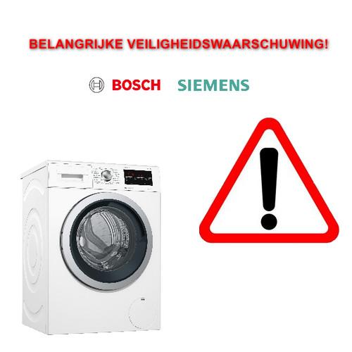 Bosch en Siemens Terugroepactie voor wasmachines